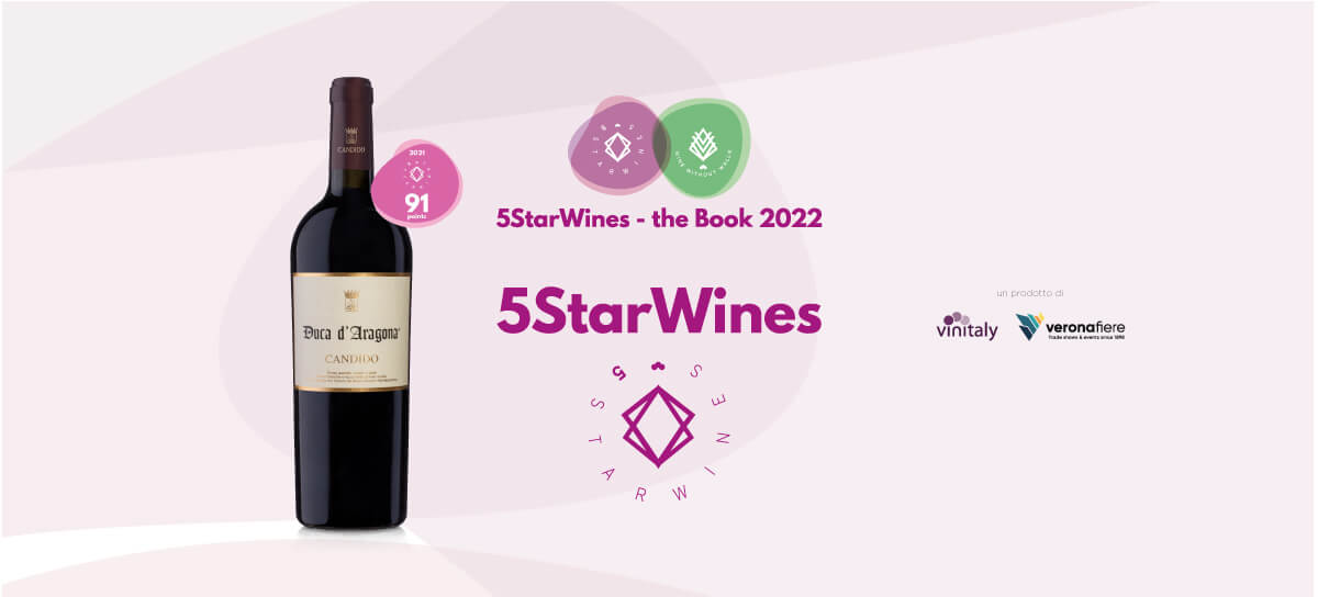 riconoscimento 5 star Wines duca d'Aragona Candido Wines